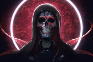 Techno Skull Wallpaper