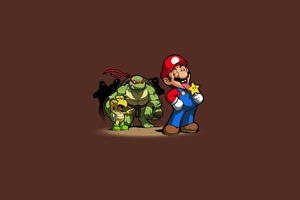 Teenage Mutant Ninja TurtlesSuper Mario Wallpaper