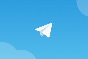 Telegram Logo Minimal 4k Wallpaper