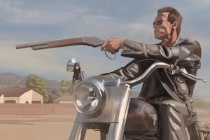Terminator On Bike