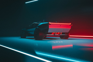 Tesla Cybertruck Rear View Concept 4k Wallpaper