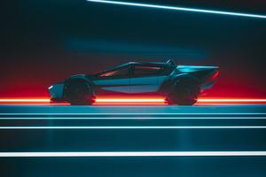 Tesla Cybertruck Side View Concept 4k Wallpaper