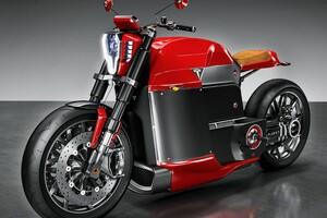 Tesla Electric Motorcycle Wallpaper