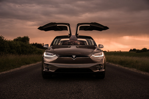 Tesla Model X Front 4k Wallpaper