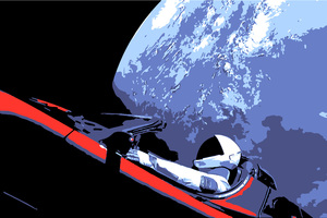 Tesla Roadster Space X Wallpaper