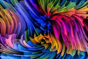 Texture Abstraction Multicolor Wallpaper