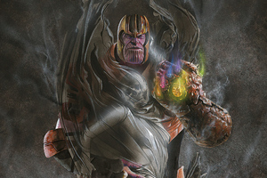 Thanos And Death Wallpaper