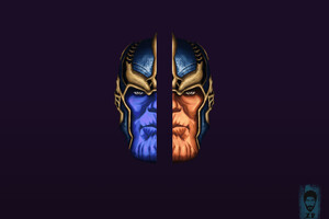 Thanos Artwork HD Wallpaper