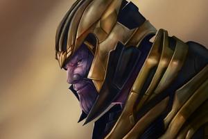 Thanos Avengers Endgame Art