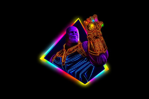 Thanos Avengers Infinity War 80S Style Artwork