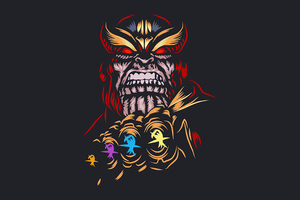 Thanos Dark Minimal 4k Wallpaper