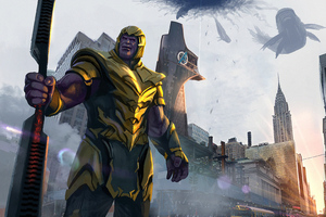 Thanos Destroyed Stark Tower Wallpaper