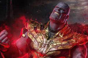 Thanos Feel My Power 4k Wallpaper