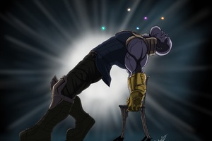 Thanos Funny Artwork Wallpaper