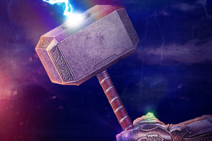 Thanos Gauntlet With Thor Hammer