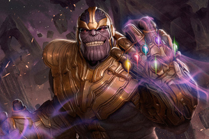 Thanos God Of Death 4k Wallpaper