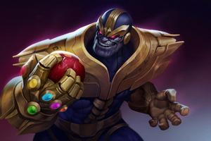 Thanos Has Iron Man Head Mask