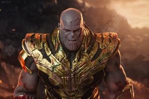 Thanos I Am Back Wallpaper