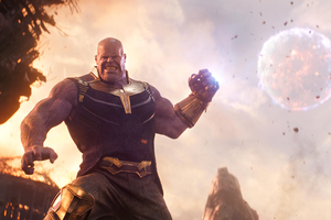 Thanos In Avengers Infinity War 2018 Wallpaper