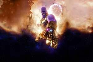 Thanos In Avengers Infinity War Artwork 4k