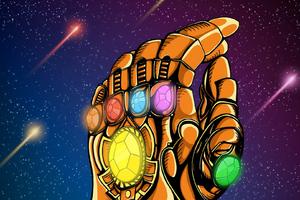 Thanos Infinity Gauntlet Art