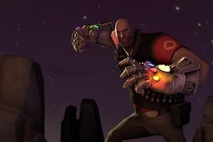 Thanos Infinity Gauntlet Fortnite Cosmic Punch Wallpaper