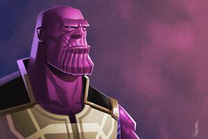 Thanos Infinity War Artwork Wallpaper