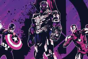 Thanos Iron Man Captain America 4k Wallpaper