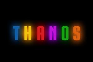 Thanos Logo Artwork Wallpaper