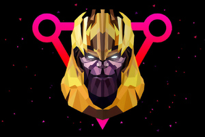 Thanos Low Poly Art