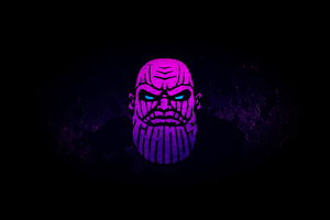 Thanos Minimal Art 4k Wallpaper