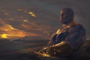 Thanos New 4k Arts Wallpaper