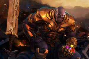 Thanos New Art4k Wallpaper