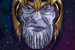 Thanos Newart Wallpaper