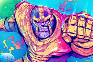 Thanos Sketchy Artwork Wallpaper