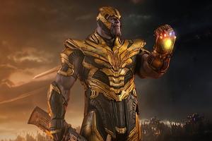Thanos Supervillain Gauntlet Wallpaper