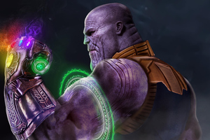 Thanos Using Time Stone Wallpaper