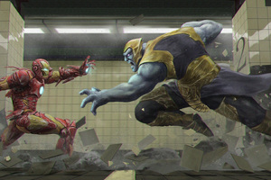 Thanos Vs Iron Man Avengers Infinity War