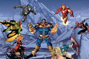 Thanos Vs Superheroes