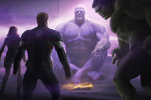 Thanos Vs The Avengers Wallpaper