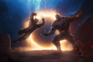 Thanos Vs Wolverine 4k Wallpaper