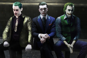 The 3 Jokers Leto Monaghan And Ledger Wallpaper