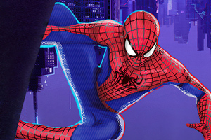 The Amazing Spider Man Suit In Spider Verse Style 4k Wallpaper
