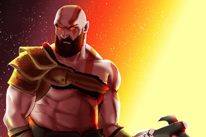 The Angry Kratos Wallpaper