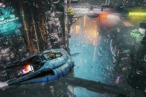 The Ascent Scifi City 5k Wallpaper