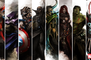 The Avengers Artwork Wallpaper