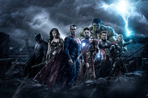 The Avengers Vs Justice League Wallpaper