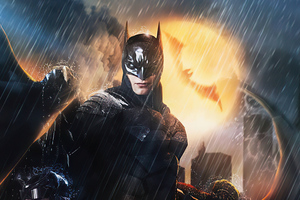 The Batman 2020 Art 4k