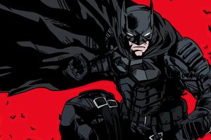 The Batman 2021 Comic Style Poster 4k