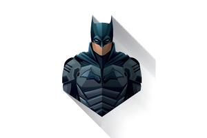 The Batman 2021 Minimalism Wallpaper